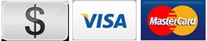 Debit, Cash, Visa, Mastercard